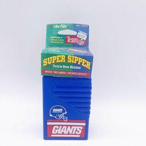 VTG NFL 1990s NY Giants Super Sipper Juice Box